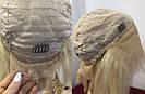 Парик из натуральных волос каре на сетке с чёлкой, блонд, женский, фото 7