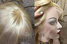 Парик из натуральных волос каре на сетке с чёлкой, блонд, женский, фото 4