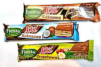 Вафли в ассортименте Fiesta какао, кокосовая, ореховая 50 г  Польша