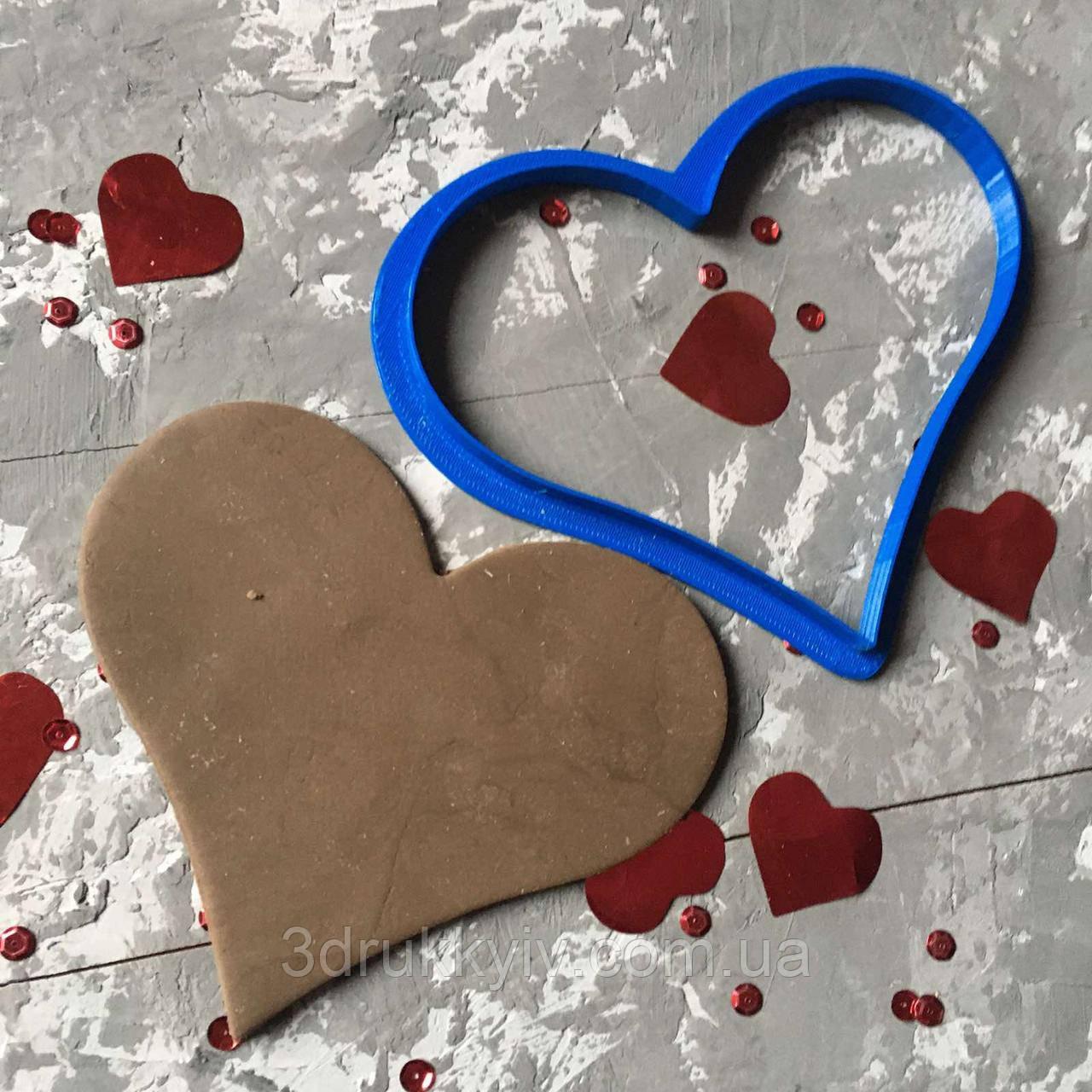"""Вирубка """"Серце #6"""" / Вырубка - формочка для пряников """"Сердце#6"""""""