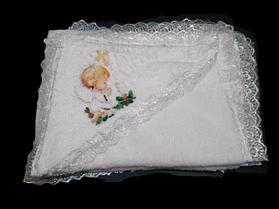 Полотенце для крещения с уголком, Крыжма. Размер 0,70*0,95 м,
