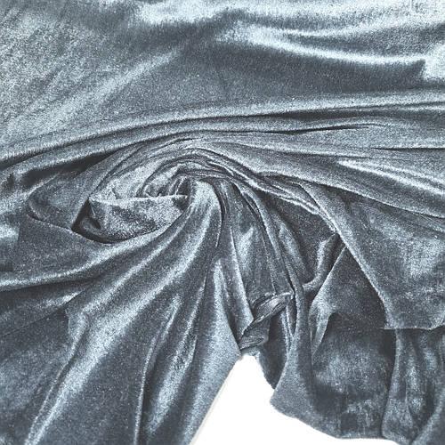 Велюр стрейчевый светло-серый