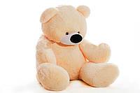 Медведь сидячий «Бублик» персиковый
