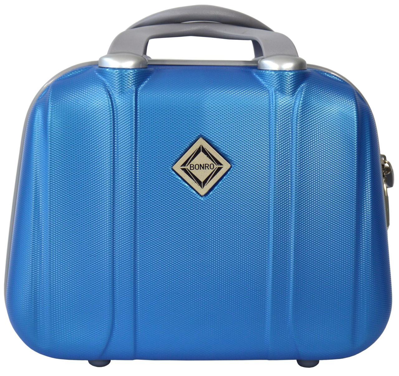 Кейс дорожный Bonro Smile большой голубой (10091608)