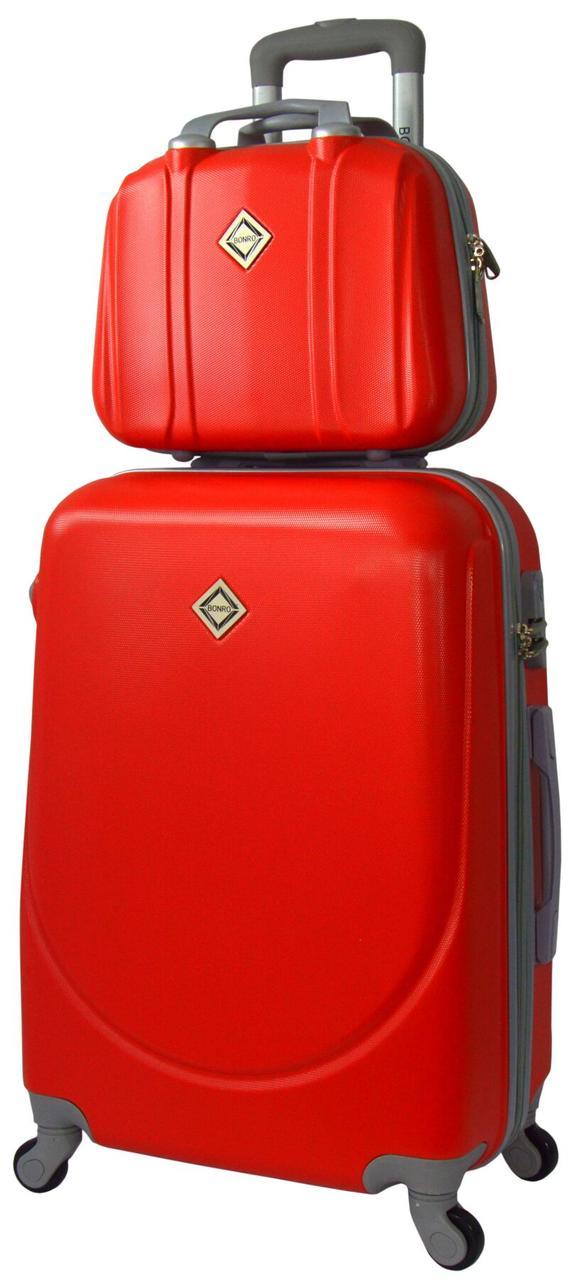 Комплект чемодан и кейс Bonro Smile средний красный (10110207)