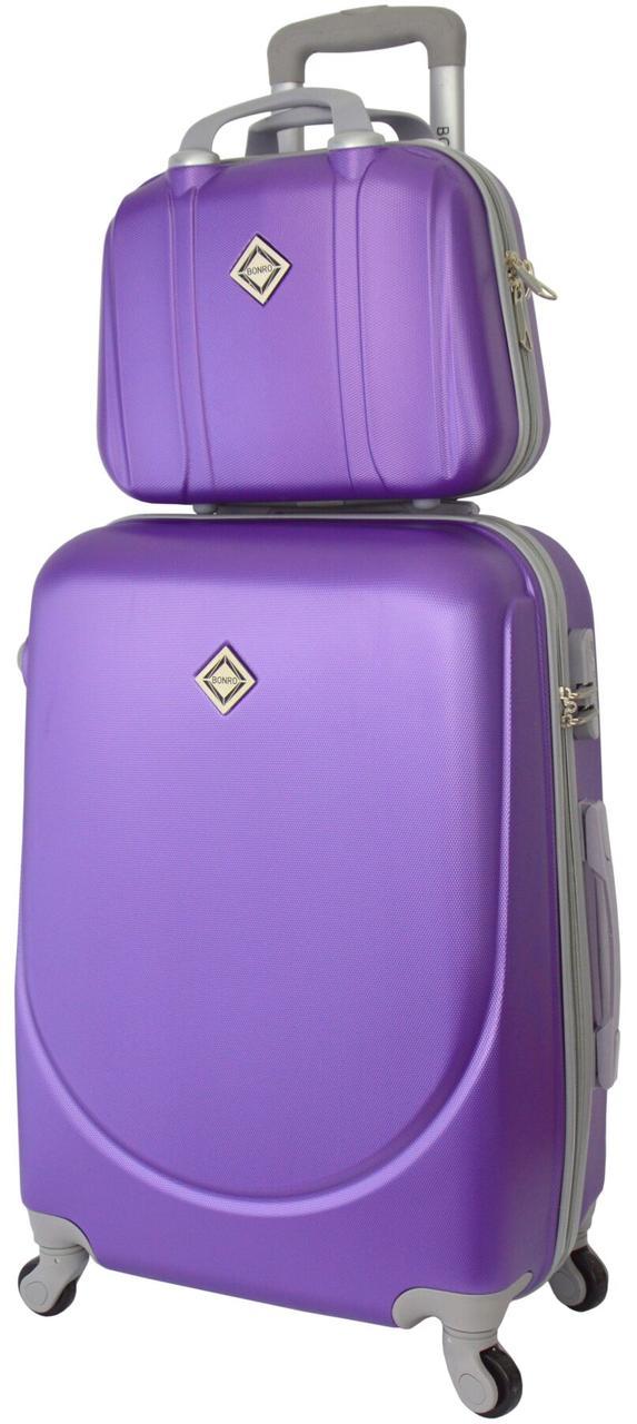 Комплект чемодан и кейс Bonro Smile большой фиолетовый (10110300)