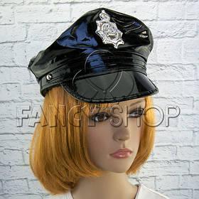 Капелюх поліцейського, лакова, Хелловін, Шляпа полицейского