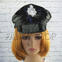 Капелюх поліцейського, лакова, Хелловін, Шляпа полицейского, фото 2