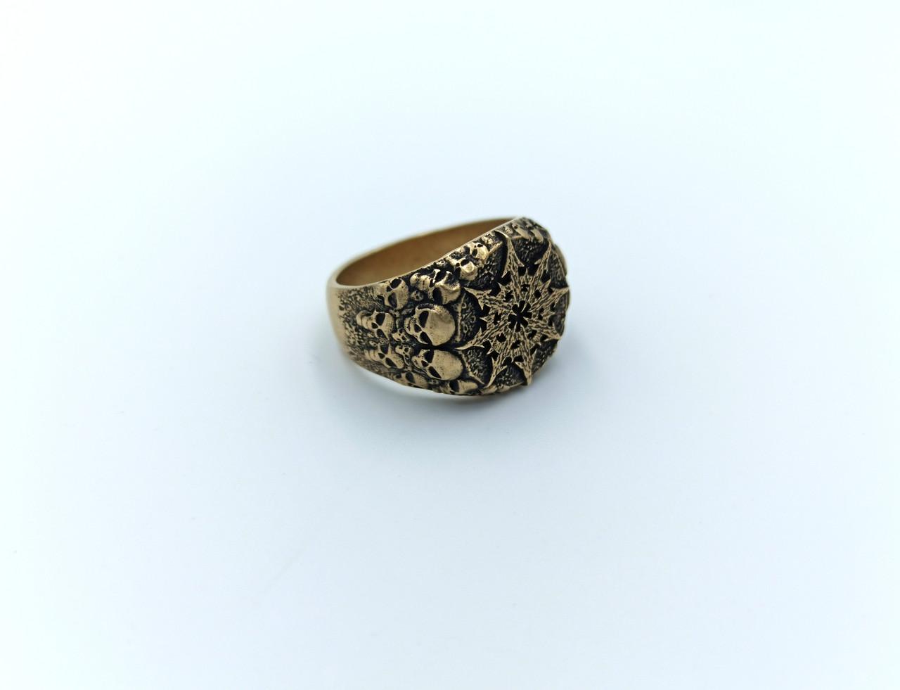 Кільце   Chaos ring, символ Хаоса Warhammer 40000 Бронза