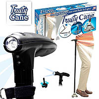 Складная трость для ходьбы с фонариком Trusty Cane (Реплика), фото 1
