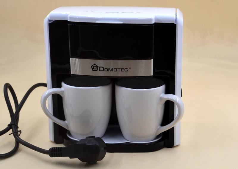 Капельная кофеварка DOMOTEC MS-0706 Белая (500 Вт) + 2 чашки