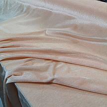 Ткань велюр стрейчевый персиковый, фото 3