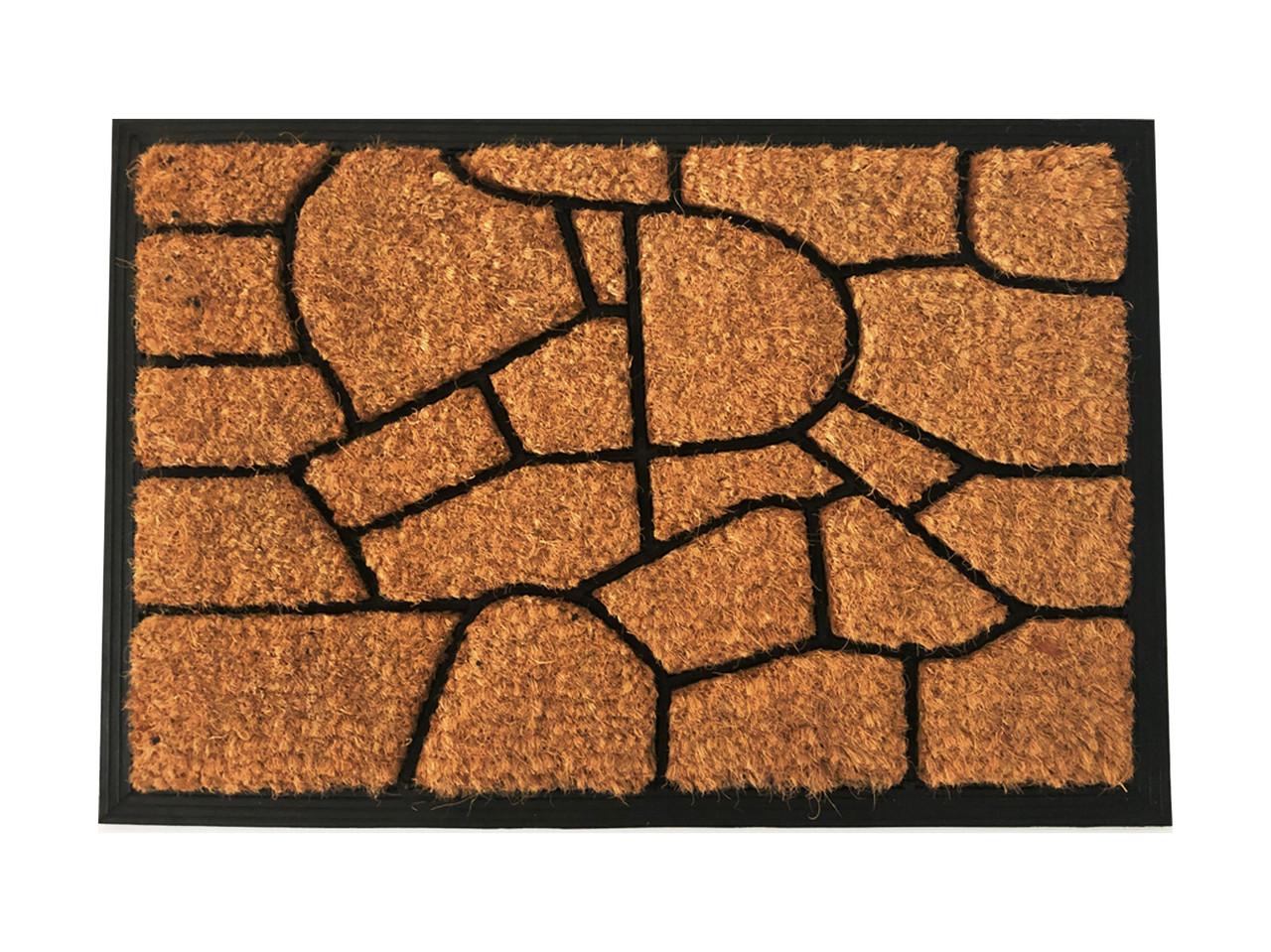 Кокосовый коврик на резиновой основе 400 х 600мм, Сахара