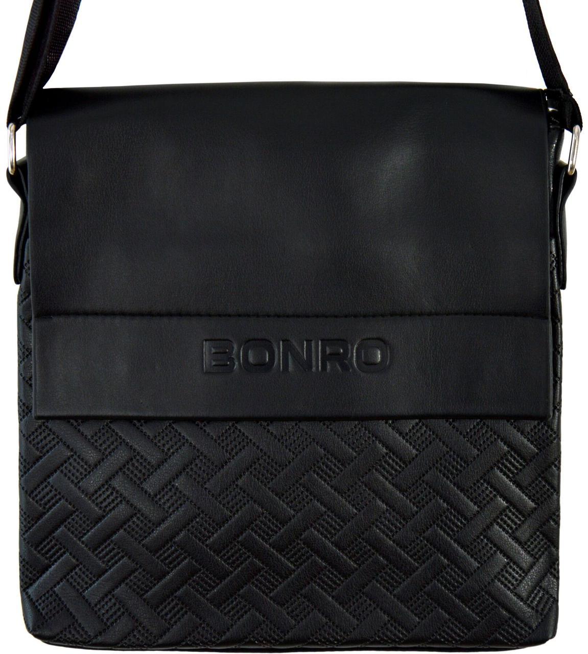 Сумка мужская Bonro через плечо черная Model 6 (14000005)