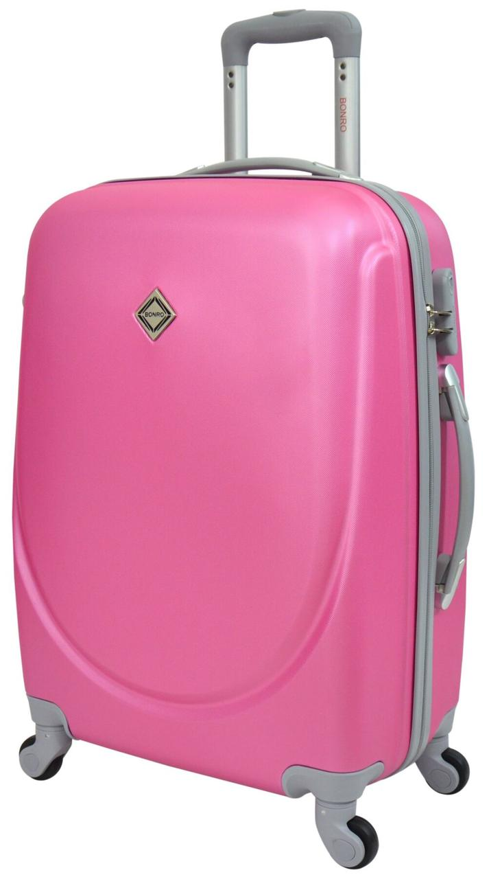 Чемодан Bonro Smile средний розовый (10052416)