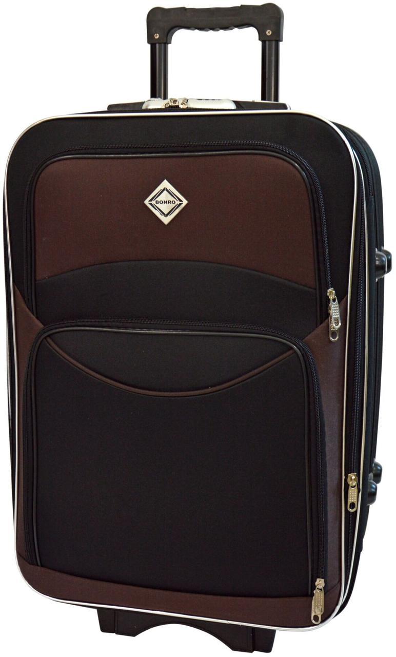 Чемодан Bonro Style средний черно-коричневый (10012317)