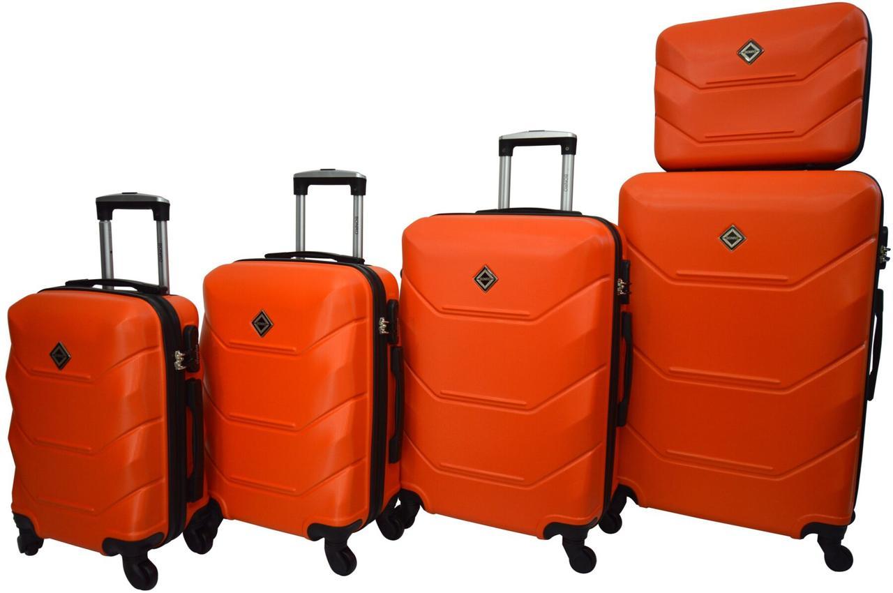 Набор чемоданов 5 штук Bonro 2019 оранжевый (10500101)