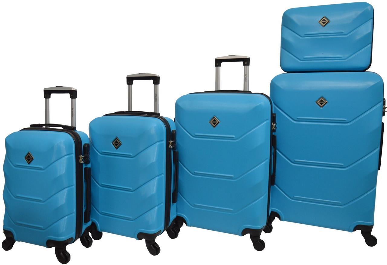 Набор чемоданов 5 штук Bonro 2019 голубой (10500103)