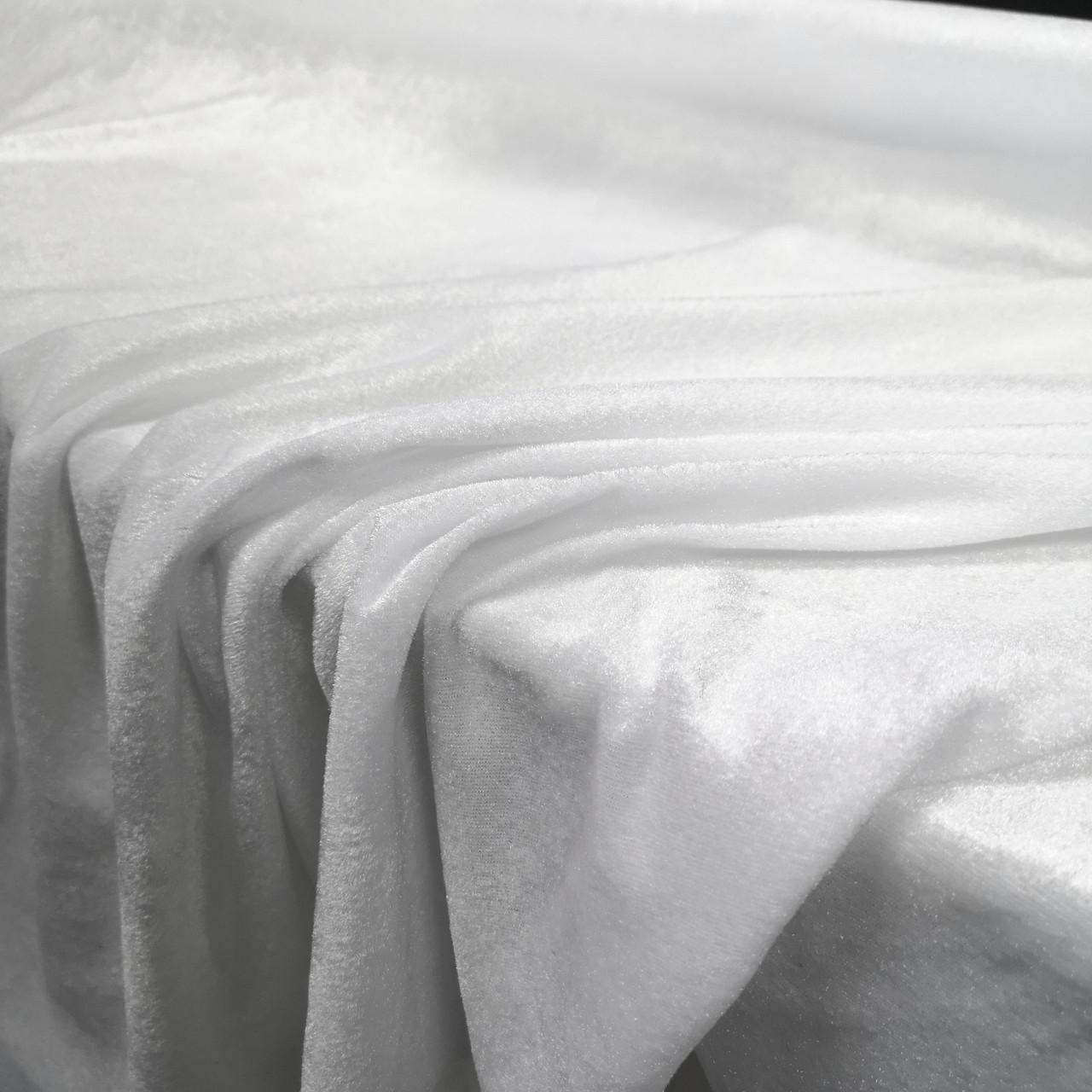 Ткань велюр стрейчевый белый