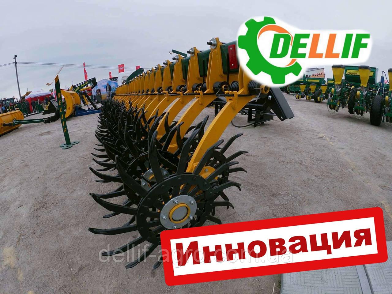 Борона мотыга ротационная Dellif Белла 3 м 15 рабочих органов Инновация