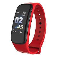 Фитнес браслет Smart Bracelet Wearfit C1S Red. Цветной экран. Фитнес-браслет. Умные часы