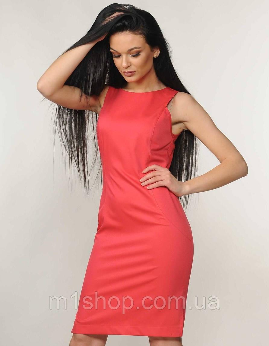 Женское платье-футляр без рукавов (Флейми ri)