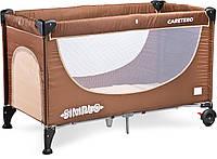 Детская кровать манеж Caretero Simplo Brown, фото 1