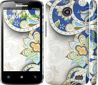 Чехол накладка для Lenovo A820 Узор v8