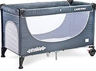 Детская кровать манеж Caretero Simplo Grey, фото 1