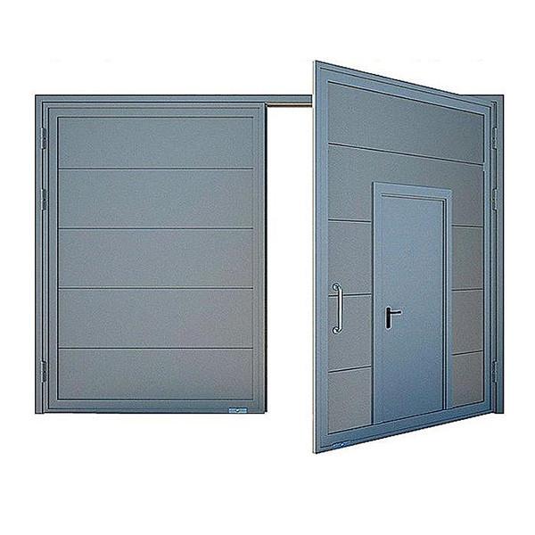 Ворота протипожежні ДМП EI60-2-2250х2000 розпашні рівнозначні з хвірткою в роб. стулці ЄвроСтандарт