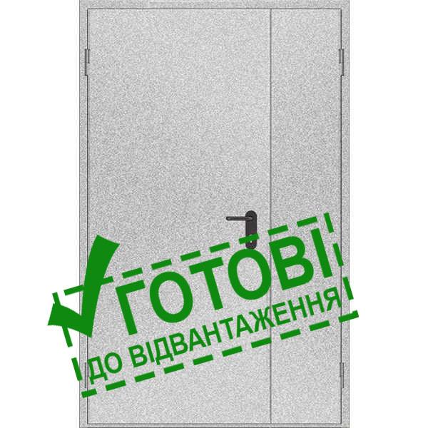 Двери противопожарные металлические глухие ДМП ЕІ60-2-2100x1200 лев., ЕвроСтандарт