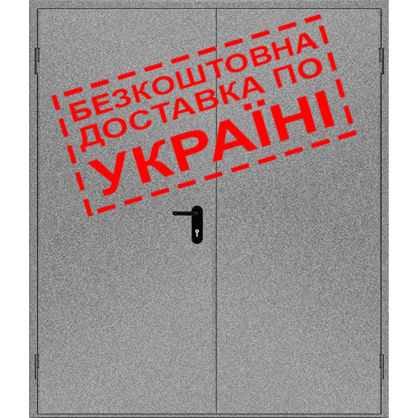 Двери противопожарные металлические глухие ДМП ЕІ60-2-2100x1550 лев., ЕвроСтандарт