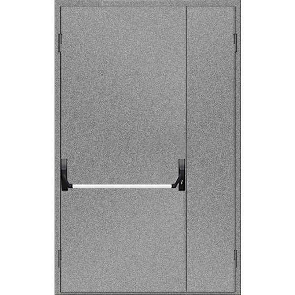 """Двері протипожежні металеві глухі ДМП ЕІ60-2-1800х1200 """"антипаніка"""", ЄвроСтандарт"""
