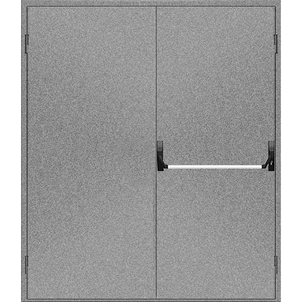 """Двери противопожарные металлические глухие ДМП ЕІ60-2-2200х1600 """"антипаника"""", ЕвроСтандарт"""