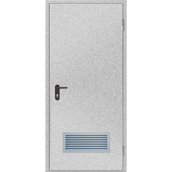 Двери противопожарные с вентиляционной решеткой ДМП ЕІ60-1-2100х1000, ЕвроСтандарт