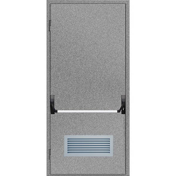 """Двері протипожежні з вентиляційною сіткою ДМП ЕІ60-1-2100х1000 """"антипаніка"""", ЄвроСтандарт"""
