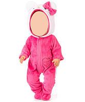 Одежда для куклы до 43см (комбинезон розовый)