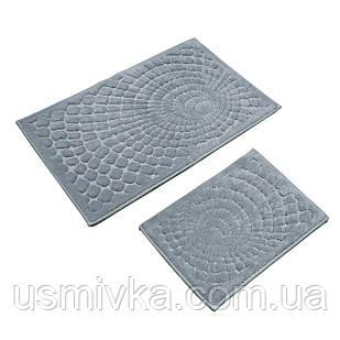 Набор ковриков для ванной комнаты с эффектом 2 шт GIRDAP