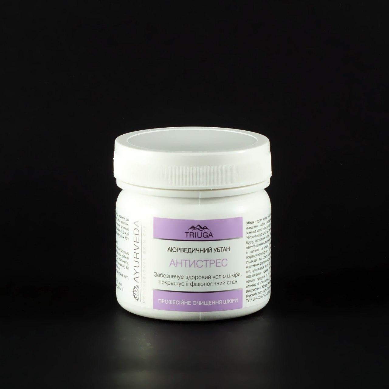 Убтан Антистресс от Триюга - очищает кожу, устраняет ороговевшие клетки, выводит токсины, 90 г