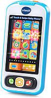 Оригинальный детский мобильный телефон голубой VTech Touch and Swipe Baby Phone 80-146189