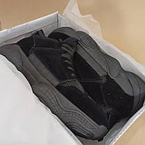 SALE Adidas Yeezy 500 Черные |КОПИЯ| мужские кроссовки адидас изи 500 \, фото 3