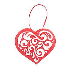 Подвесное Ажурное сердце бумажное