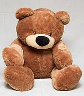 Медведь сидячий «Бублик» коричневый