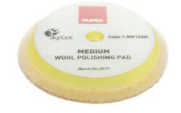Полировальный круг из шерсти средний - Rupes BigFoot medium wool 130/145 мм. желтый (9.BW150M)