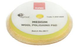 Полировальный круг из шерсти средний - Rupes BigFoot medium wool 150/165 мм. желтый (9.BW180M)
