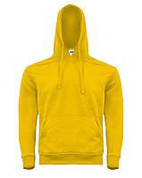Мужская толстовка с капюшоном JHK KANGAROO цвет желтый (SY)