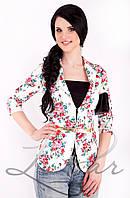 Женский укороченный пиджак Lipar Белый