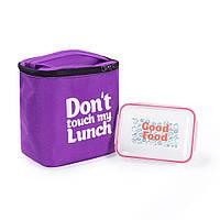 "Термосумка ""Ланч бэг Don't touch my lunch"" maxi (фиолетовая), фото 1"