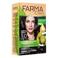 Крем-краска для волос без аммиака Farmasi пр-ва Турция 1.0 Чорный - 4,73 ББ / Far - 7090226