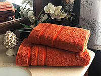 Полотенце махровое гладкокрашенное 30х50, 50х90, 70х140, 100х150 терракот, индиго, зеленый, фиолетовый